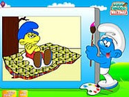 Color the smurfs ingyen j�t�k